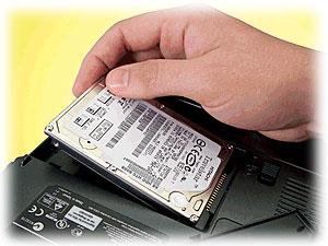 Výměna pevného disku notebook Acer
